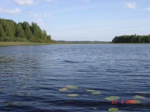 Куконваарская губа с видом на фарватер озера