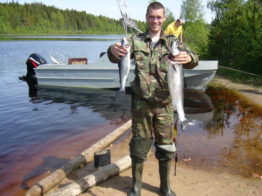 рыбалка в устье реки водла