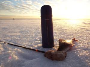 термос, атрибут зимней рыбалки