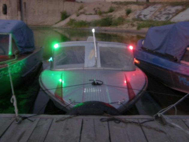 ходовые огни на лодках ПВХ